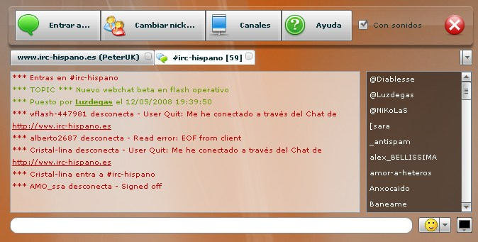 Cliente IRC Flash