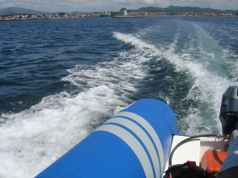 Navegando por la Ría de Arousa