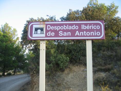 Cartel Despoblado iberico de San Antonio, Calaceite