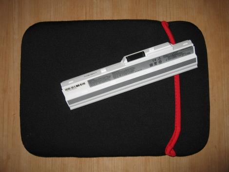 Batería de 6 celdas y funda de neopreno para LG X110