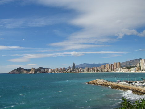 Vista de Benidorm, playa de Poniente